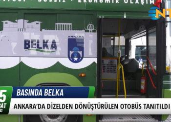 Ankara'da Dizelden Dönüştürülen Elektrikli Otobüs Tanıtıldı 25