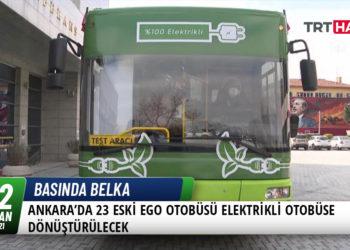 Ankara'da 23 Eski EGO Otobüsü Elektrikli Otobüse Dönüştürülecek 16