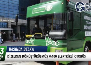 Dizelden Dönüştürülmüş %100 Elektrikli Otobüs 13