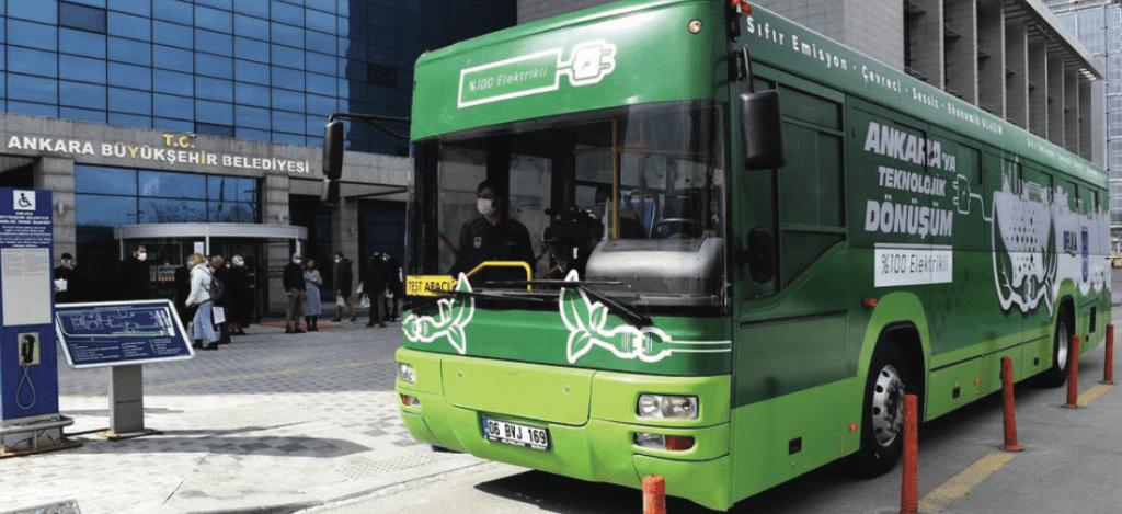 Dizelden Dönüştürülmüş %100 Elektrikli Otobüs 2