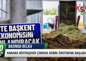 Ankara Büyükşehir Çimden Gübre Üretimine Başladı 1