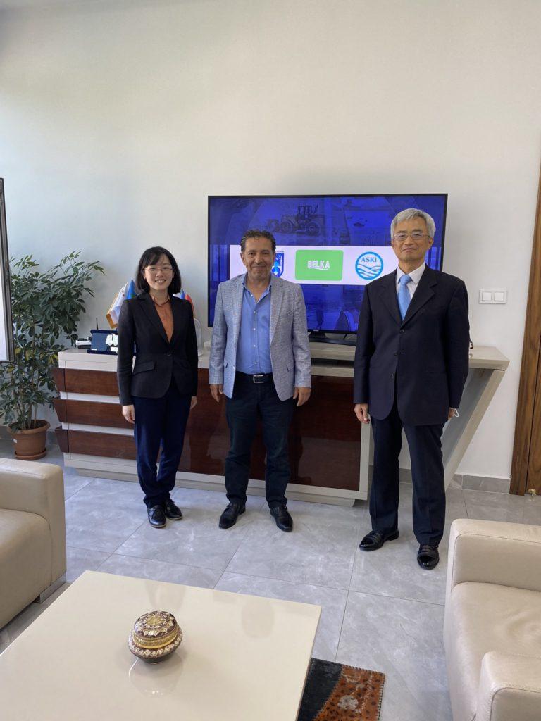 Tayvan Büyükelçiliği Taipei Ekonomi ve Kültür Misyonu Ankara Temsilciliği Direktörü, Sn. Charles Tseng ve Ekonomi Danışmanı, Sn. Annie C. Yu BELKA AŞ'yi Ziyareti 1
